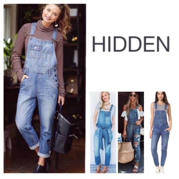 100% quality great variety models boy Hidden Jeans Bailey Boyfriend Denim Overalls. NWT. NWT